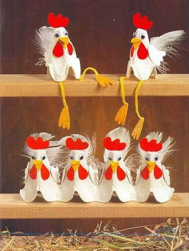 Неожиданно, но творческие люди делают поделки даже из яичных лотков!