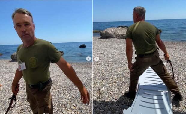 Охранник крымского «Фороса» выбивал нагайкой плату за пляж