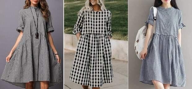 40 моделей стильных платьев в клетку, «секреты» клетки и что выбор клетки расскажет о вас!