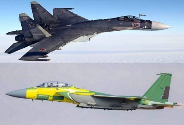 Американцы сравнили Су-35 со своим новым истребителем F-15EX