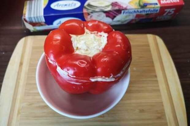 Антипасти по-советски или фаршированный  сыром перец: фото шаг 3