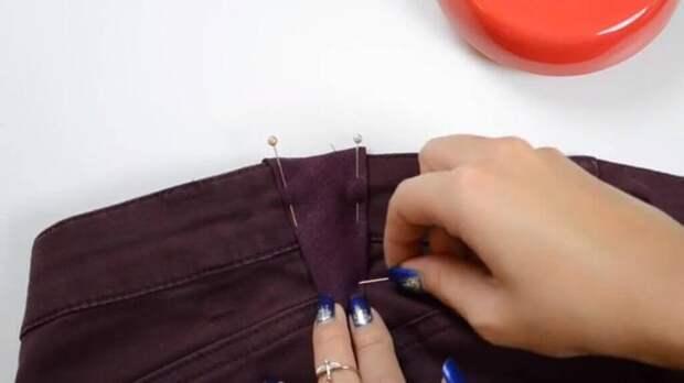 Как расставить джинсы в поясе (diy)