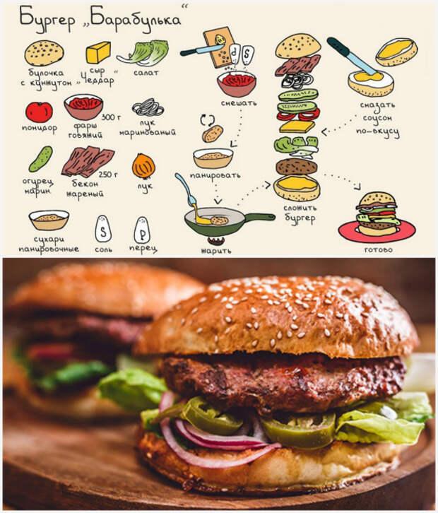 Бургер «Барабулька».