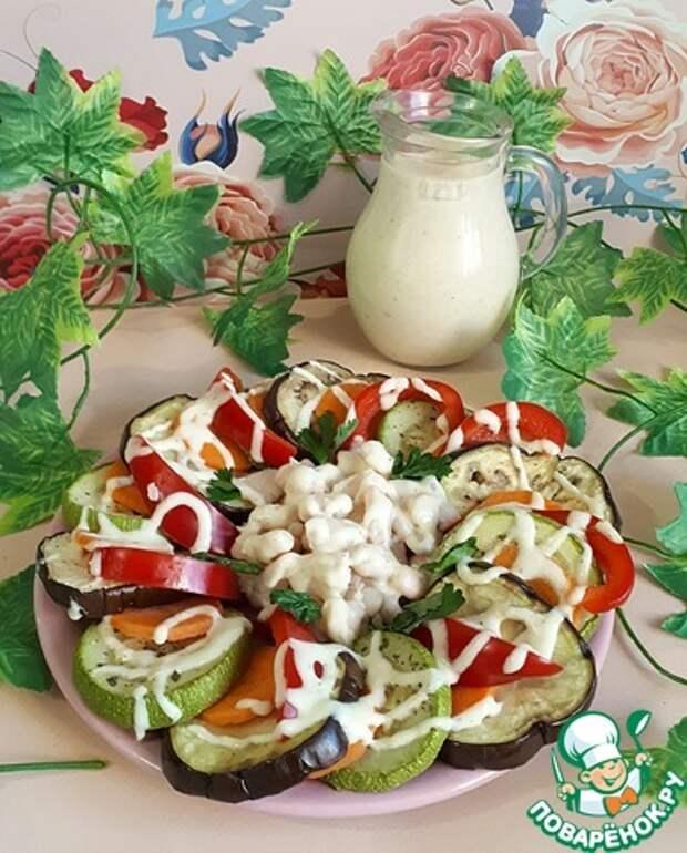 Овощи под соусом из фасоли