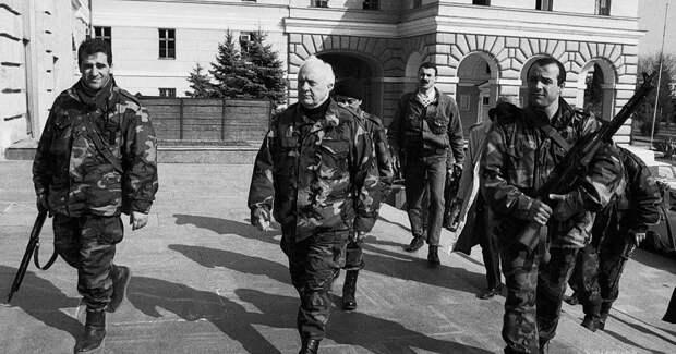 Шеварднадзе в оккупированном грузинами Сухуме