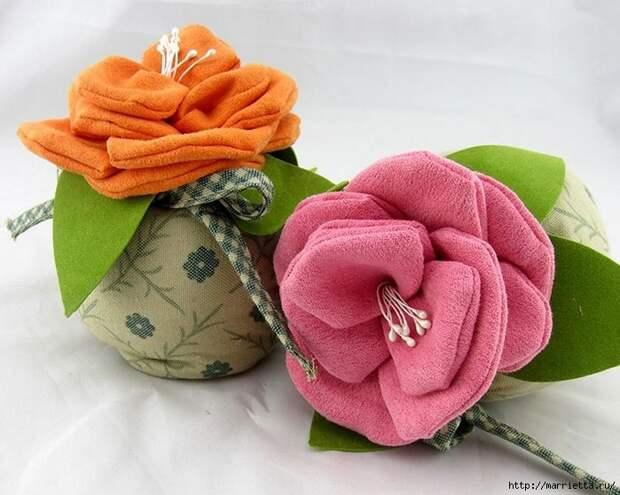 Ручная работа. Цветы из ткани (4) (700x559, 276Kb)