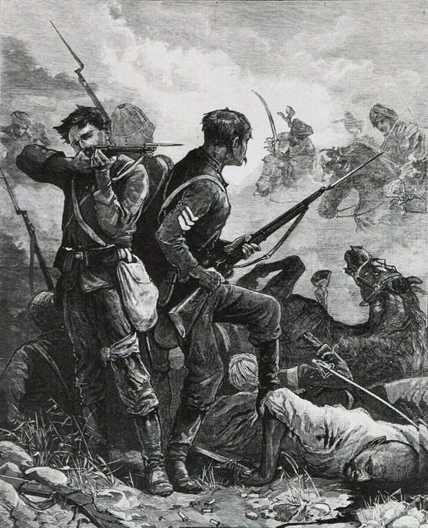 Бой англичан с пуштунами.