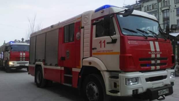 Спасатели потушили пожар в доме Басевича в Петербурге