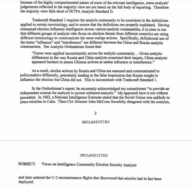 """""""Китай вмешался в выборы в США"""" - директор Нацразведки США"""