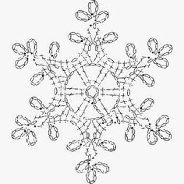 Красивые снежинки крючком, схемы. Много, очень много...