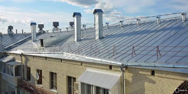 В Марьиной роще отремонтируют крыши четырнадцати домов