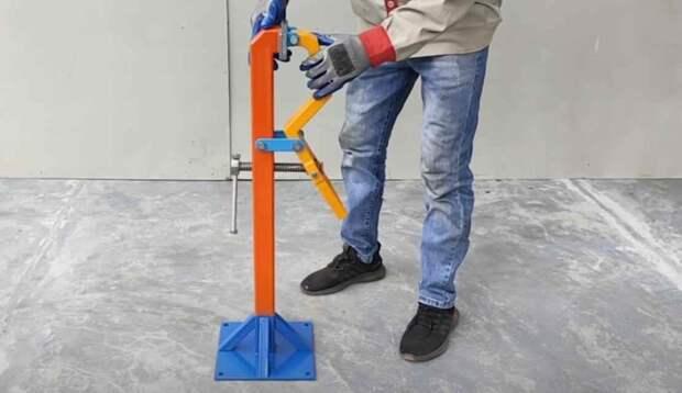 Напольные слесарные тиски для домашней мастерской