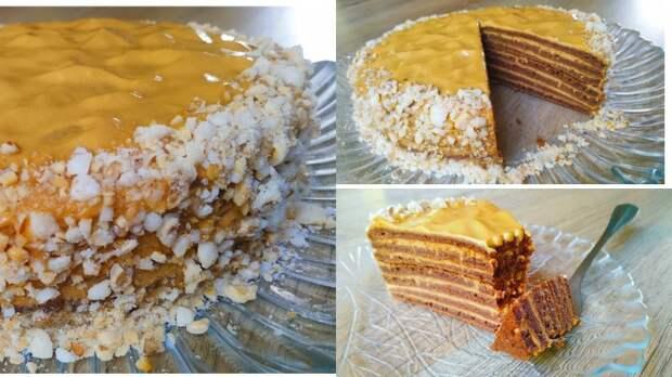 Шикарный торт на сковороде – не напрягаясь!