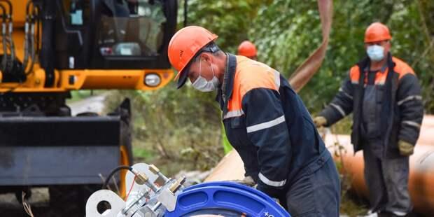 Газопровод на Полярной реконструируют в Северном Медведкове