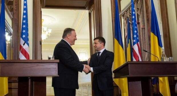 Зеленский обсудил с госсекретарем США перемирие на Донбассе