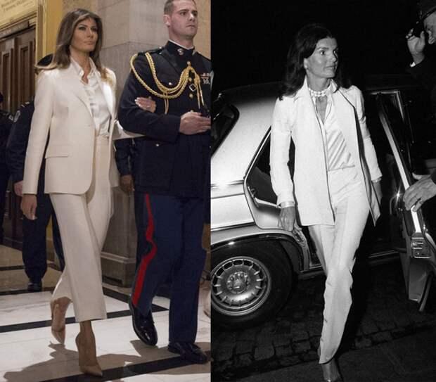 5 образов Мелании Трамп, вдохновленные стилем Жаклин Кеннеди