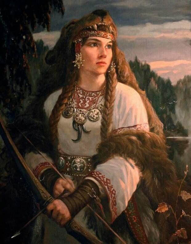 Славянская девах-воитель.