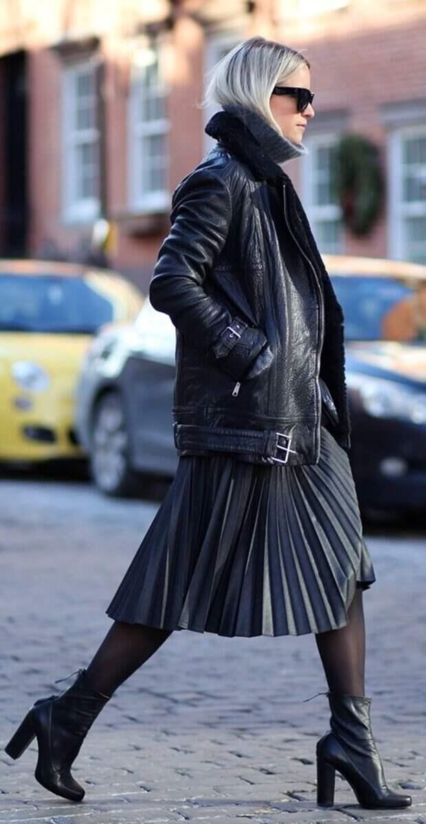 Юбка и платья с верхней одеждой: что должно быть длиннее