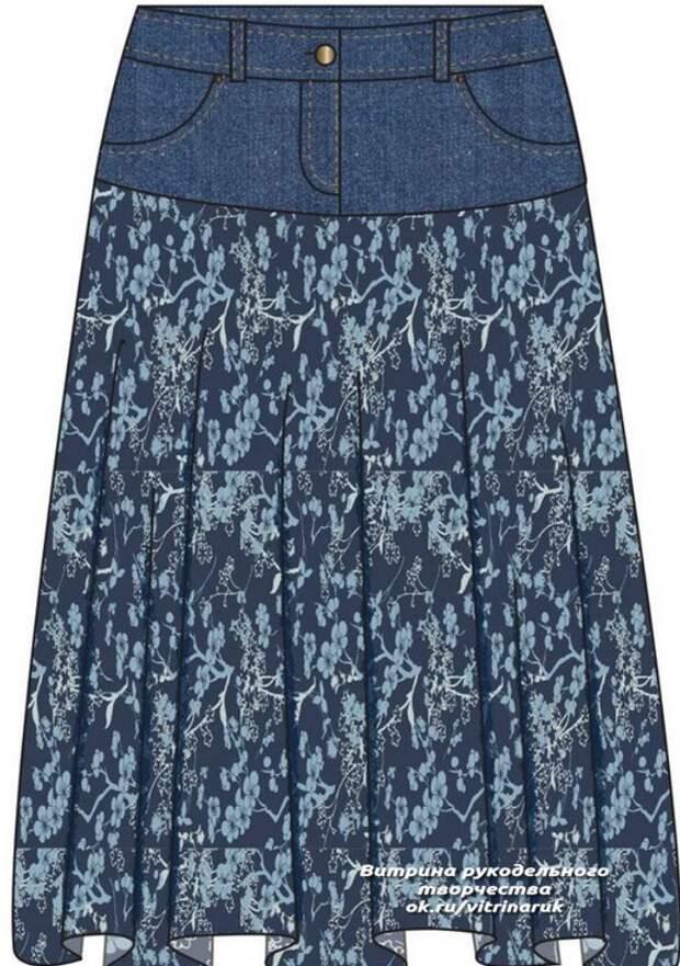Стильная юбка своими руками для любителей шитья и переделки.