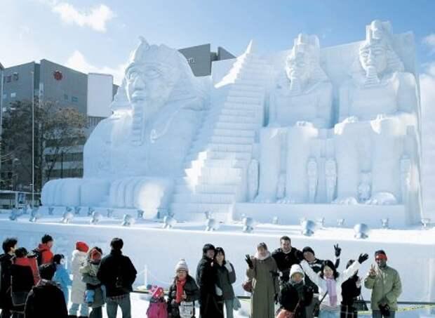 Снежный Египет в Саппоро