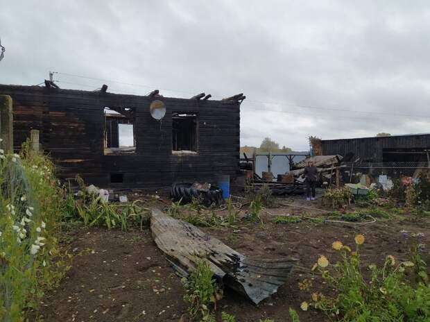 Две семьи в Воткинском районе остались без крыши над головой из-за пожара