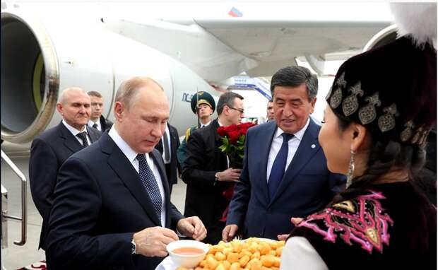 Президент РФ находится с государственным визитом в Киргизии