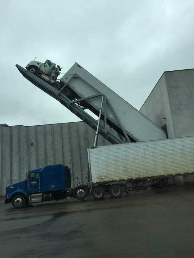 Разгрузка грузовиков с картофелем на заводе по производству чипсов подборка, прикол, теперь вы видели больше, удивительное, юмор