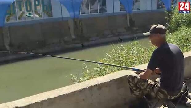 «Крупная не воняет»: Жители Керчи ловят рыбу в реке, куда попадают сточные воды