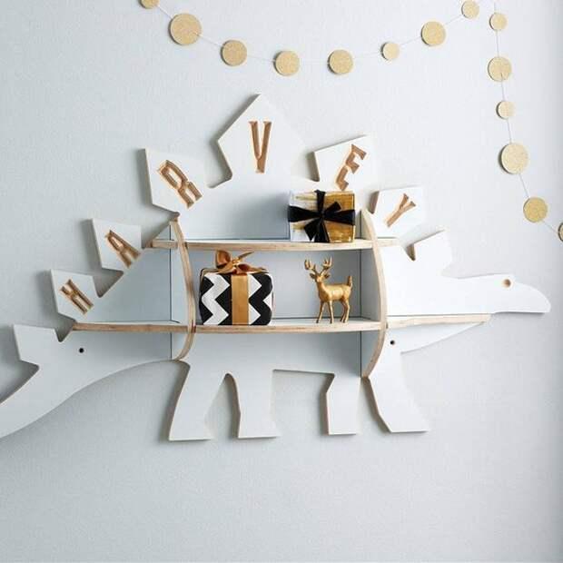 мебель в виде динозавров полочки в детскую