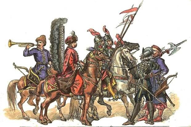 Польская армия 17 века. /Фото: upload.wikimedia.org