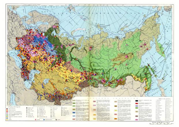 Экономическая карта России