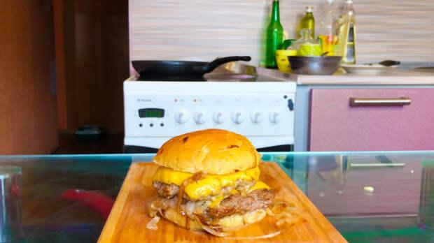 Луковый бугрер, чертовски вкуснющий бургер