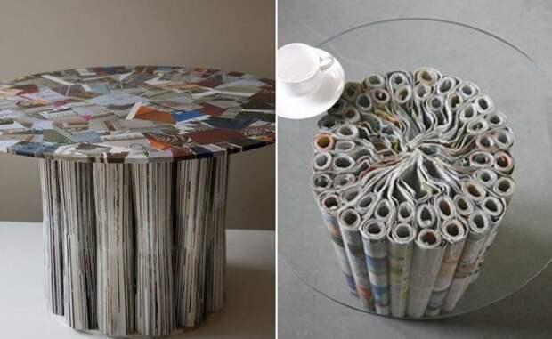 5. Даже мебель из бумаги делают. С заботой о природе: вторичное использование материалов газеты, идеи, макулатура, на все руки мастер, поделки, своими руками