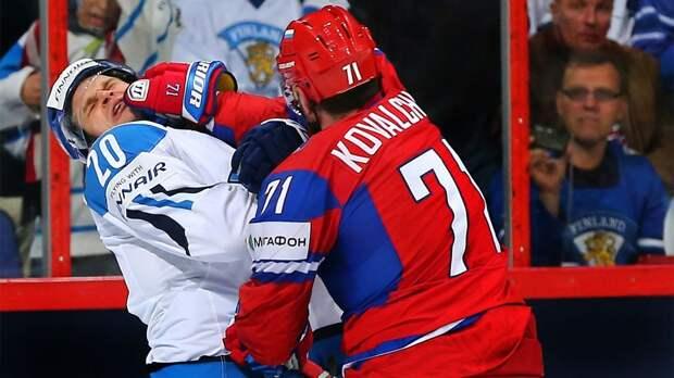 Знаменитая драка русского хоккеиста Ковальчука. Одним ударом отправил в нокау...