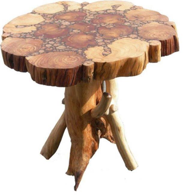 Столы из спилов дерева: варианты для работы своими руками
