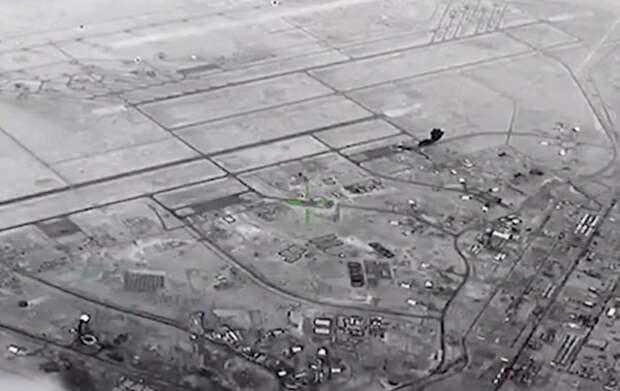 Авиаудар иранскими ракетами по базе США в Ираке сняли на видео