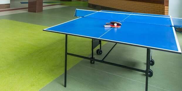 Бесплатные группы по игре в настольный теннис заработали в ландшафтном парке «Митино»