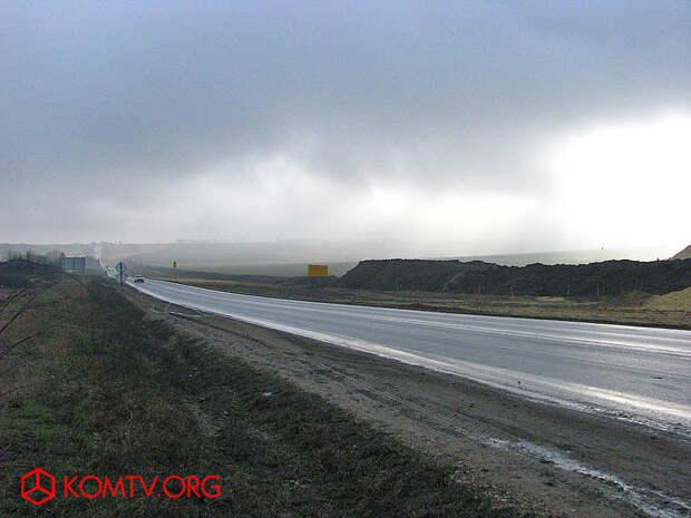 Вдоль масштабной стройки трассы «Таврида» по пути в Симферополь.