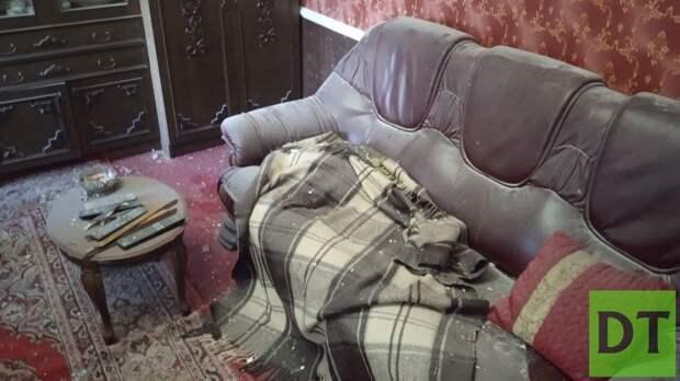 Снаряд ВСУ разорвался в комнате жилого дома в Донецке