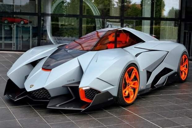 Lamborghini Egoista авто, автодизайн, автомобили, аэродинамика, дизайн, обтекаемость, самолет
