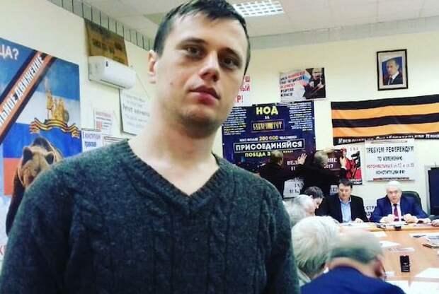 Нарушитель, обливший Касьянова зеленкой, оказался активистом НОД