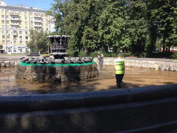 Фонтан на Новопесчаной подготовлен к открытию Фото: Дмитрий Дунько