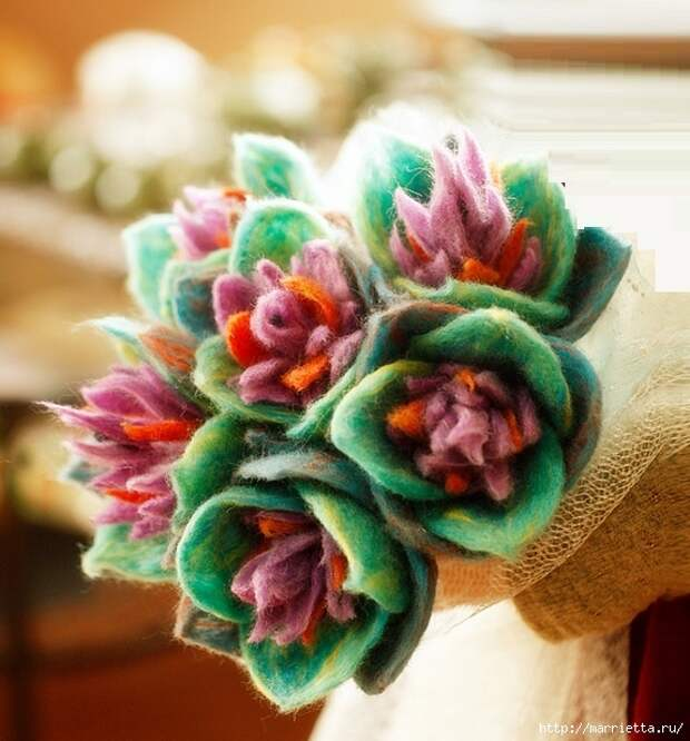 Ручная работа. Цветы из ткани (42) (574x617, 231Kb)