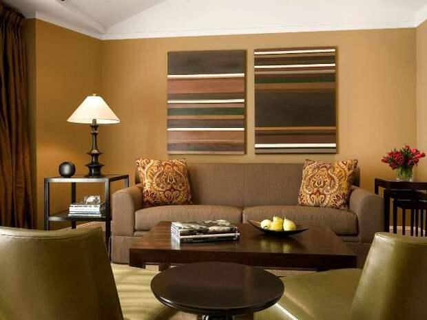 Коричневый цвет в интерьере: как гармонично преобразить интерьер (71 фото)