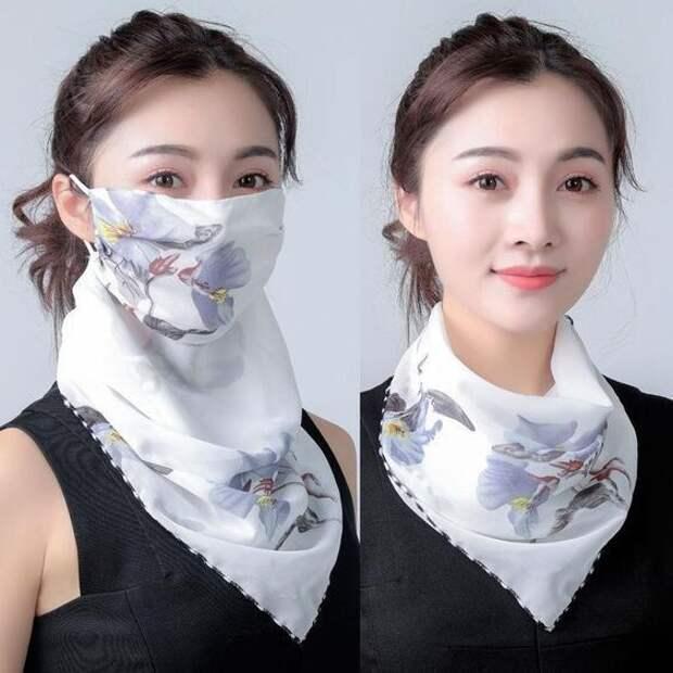 Выкройки маски-шарфа