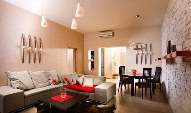 Сочетание и совмещение гостиной и столовой - это то, что точно понравится, особенно когда всё оформлено в современном стиле.
