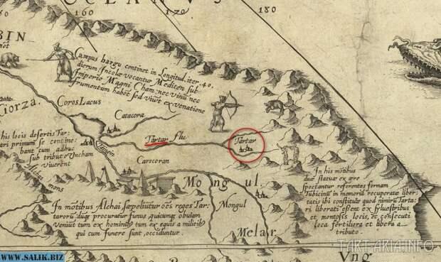 Тартар на карте Даниэля Келлера 1590г.