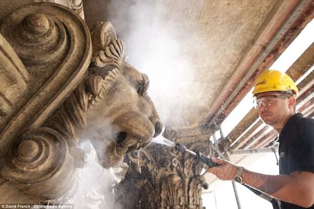 Виртуозный чистильщик доводит до блеска мировые достопримечательности и памятники культуры