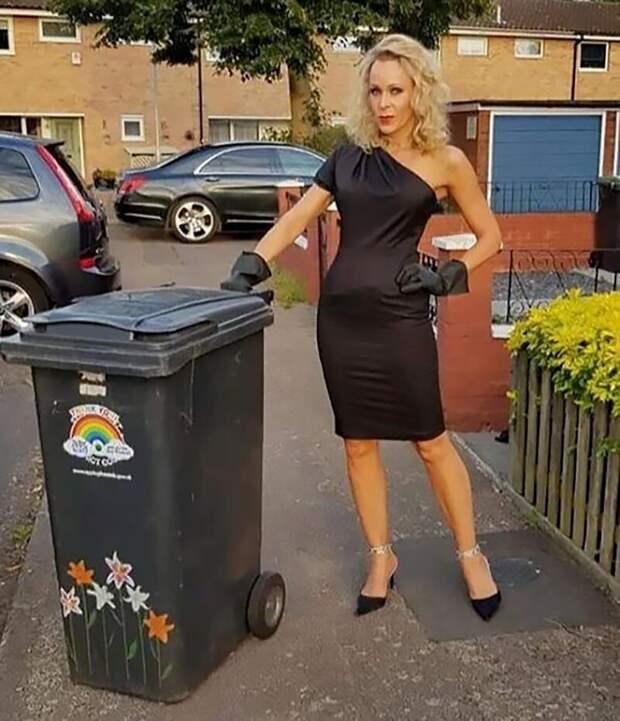 Зачем эта женщина каждую неделю выносила мусор вновом платье