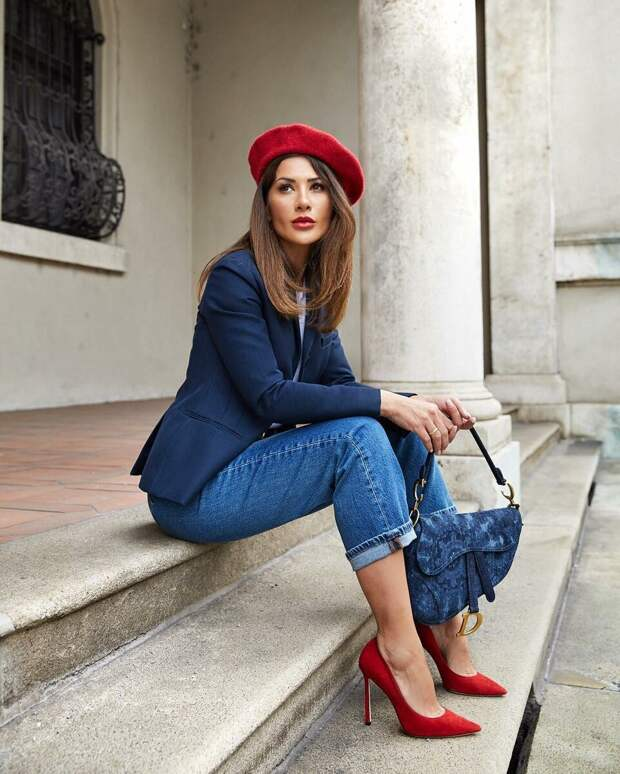 Женщина в красном берете. /Фото: fashion-stil.ru